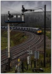 Boxed in (Blaydon52C) Tags: 4d47 drs direct rail services mist forest dalwhinnie highland scotland freight railway railways railfreight railroad trains train transport locomotive locomotives loco locomotion