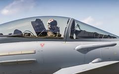 Spanish Airforce EF-2000 pilot waving (Nicky Boogaard) Tags: lmd2019 lmd19 luchtmachtdagen2019 rnlafopendays volkel volkelairbase fighterjet eurofighter eurofightertyphoon spanishairforce ef2000