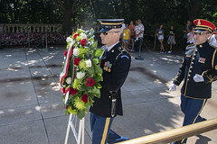 Italian Deputy Prime Minister Matteo Salvini Participates in a Public Wreath-Laying Ceremony at the Tomb of the Unknown Soldier (Arlington National Cemetery) Tags: arlingtonnationalcemetery anc usarmy usa arlington virginia