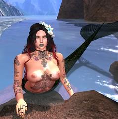 (angelxxofmusic33) Tags: mermaid secondlife beach rp naked fantasy