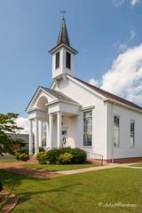 White Stone Baptist Church (John H Bowman) Tags: virginia whitestone baptistchurches canon241054l churches july lancastercounty 2013 blueskywhiteclouds july2013 whitestonebaptistchurch northernneck