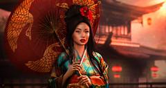 HARUMI (meriluu17) Tags: japanese chinese doll geisha harumi her portrait lode zenith itgirls people sunlight sunshine