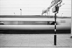 Ricoh 500RF - Fomapan 100 (10) (meniscuslens) Tags: train station cheddington buckinghamshire vintage film camera ricoh 500rf fomapan mono monochrome bw bnw
