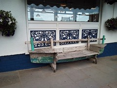 Happy Bench Monday (Martellotower) Tags: happy bench monday seats fish chip shop whitby boat
