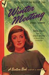 Bantam Books 400 - Ethel Vance - Winter Meeting (swallace99) Tags: bantam vintage 40s romance paperback bettedavis