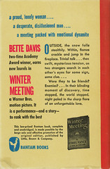 Bantam Books 400 - Ethel Vance - Winter Meeting (back) (swallace99) Tags: bantam vintage 40s romance paperback