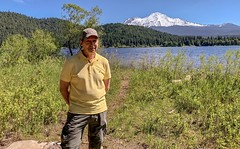 Standing by the shore of Lake Siskiyou near Mount Shasta, California (lhboudreau) Tags: