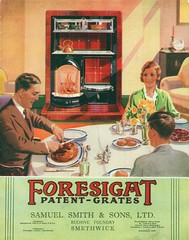 Family Mealtime. A Foresight Patent Combination Grate Catalogue Cover (growlerthecat) Tags: cookingrange combinationgrate castiron catalogue tradecatalogue fireplace foresight samuelsmith smethwick
