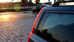 Volvo Sunset (Ramon-Photography) Tags: volvo car window sun v70 classic warm summer sunset taillight