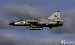 SAAB Viggen SE-DXN (udaloy) Tags: saabviggen saab sweden swedish charliekirkpatrick prestwickairport prestwick pik plane scotland unitedkingdom uk ayrshire aircraft airplane aviation aeroplane aeronautical airport jetaircraft jet militaryaircraft military vintageaircraft