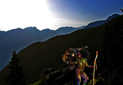 Sister Nature (vancouverphotographer1170) Tags: woman nature natural bears mountains magic light strange vancouver canada northshore