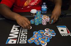 Raking in chips (World Poker Tour) Tags: worldpokertour deepstacks wpt poker seminolehardrocktampa season18 2019 tampa fl usa