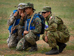 """A Japanese soldier listens as Mongolian and Malaysian soldiers conduct IED training (#PACOM) Tags: khaanquest kq19 unitednations pacific indopacific peacekeeping security mongolia malaysia ied improvisedexplosivedevices ulaanbaatar usindopacificcommand """"usindopacom"""