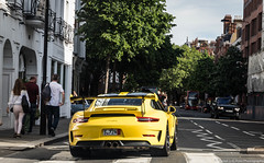 US Spec (Hunter J. G. Frim Photography) Tags: supercar london porsche 911 gt3 rs gt3rs 9912 speed yellow german weissach carbon coupe wing i6 porsche911gt3rs