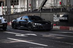 V10 (Hunter J. G. Frim Photography) Tags: supercar london audi r8 v10 coupe black silver awd german audir8 audir8v10 plus