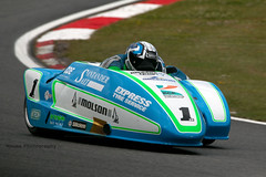 British Sidecar Championship - Kershaw-Clark ({House} Photography) Tags: bsb british superbikes bikes motorcycle motorbike race racing motorsport motor sport canon 70d housephotography timothyhouse sigma 150600 contemporary two wheels big brands bash king molson group sidecar championship