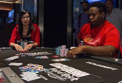 Wendy Vo contemplates as Fabian Foster moves all in (World Poker Tour) Tags: worldpokertour deepstacks wpt poker seminolehardrocktampa season18 2019 tampa fl usa