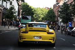 3RS (Hunter J. G. Frim Photography) Tags: supercar london porsche 911 gt3 rs gt3rs 9912 speed yellow german weissach carbon coupe wing i6 porsche911gt3rs