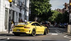 Weissach (Hunter J. G. Frim Photography) Tags: supercar london porsche 911 gt3 rs gt3rs 9912 speed yellow german weissach carbon coupe wing i6 porsche911gt3rs