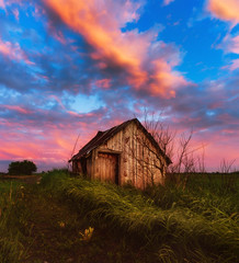 This Old Shed (Michael J. Higgins) Tags: shed barn farm farmhouse sunset sunrise evening dew grass dewdrops agriculture clouds road trail path wood wooden shack ottawa ontario canada countryside building outhouse