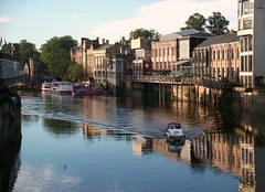 York, England (Gluca90photo) Tags: york yorkshire england travel green outdoor river boat reflections reflex camera photography photo foto flickr city countryside mood sunnyday travelblog journey buldings wall trip