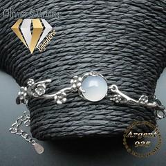 Bracelet éclosion de fleur en argent 925 (olivier_victoria) Tags: argent 925 rose bracelet fleur blanche branche eclosion opacifie purete