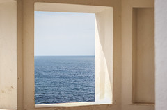 Framed Atlantic (joshdgeorge7) Tags: atlantic ocean seas seascape newquay cornwall cornish coastline coast walks blue waves sky window frame sunlight geometric patterns symmetry canon eos m10 digital mirrorless