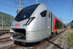 SOB - RABe 526 / FLIRT 3 (Kecko) Tags: 2019 kecko switzerland swiss suisse svizzera schweiz sargans sg europe eisenbahn railway railroad zug train sob südostbahn flirt3 stadler rail rabe526 flirt 948575260013chsob rv2020 swissphoto geotagged geo:lat=47039740 geo:lon=9455190