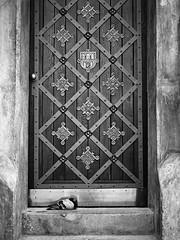 Old Town Hall Door (JLA Analog) Tags: bw bronica bronicaetrsi film foma100 prague pyrocathd zenzanon75