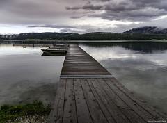 The Dock (Dennis_R_Smith) Tags: washingtonstate landscape dock lake water clouds reflections hills sonya7iii easternwashington waittslake