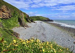 St Ninian's Bay, Dumfries, Scotland, UK (BrianDerbyshire) Tags: uk scotland dumfries isleofwhithorn stninian stninianscave olympus sea cliffs beach