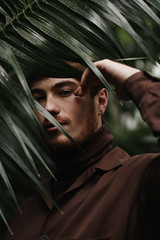 Alexis (maddie kamp) Tags: portrait male paris greenhouse dramatic earth tones