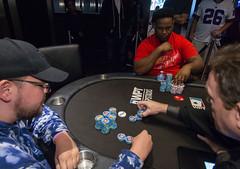 Jeff Trudeau doubles thru Fabian Foster (World Poker Tour) Tags: worldpokertour deepstacks wpt poker seminolehardrocktampa season18 2019 tampa fl usa