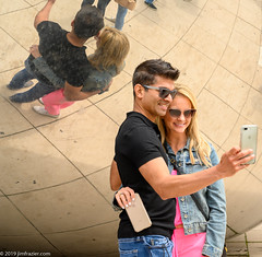 """Another in the """"Selfies at the Bean"""" series (Jim Frazier) Tags: 2019 20190608downtownchicago 2019selfiesatthebean millenniumpark wscf art attraction bean businessdistrict candids cellphones chicago city cloudgate cloudy cook cookcounty couples downtown families fun happiness happy il illinois jimfraziercom joy june loop love meetup millennium mirrors park people peoplewatching photographers photowalk portrait portraits portraiture q3 reflections ruleofthirds sculpture selfies selfiesatthebean smiles smiling statuary statues summer sunny tightcrop tourism touristattraction tourists urban walking fastpictures f10 instagram f20"""