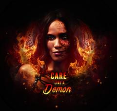 Care Like a Demon (kristin1228) Tags: lucifer maze lesleyann brandt care like demon graphic design art
