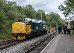 Running round at Rhymney (Dai Lygad) Tags: photos photographs pictures images freetouse stock flickrstock jeremysegrott flickr transportforwales tfw rhymneyvalley 17thjune 2019 37418 class37 rhymney locomotivehauled locohauled publictransport travel wales southwales uk