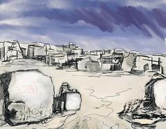 Quarry | Sketch | Obvs (fraser donachie) Tags: public sketch portland dorset procreate charcoal