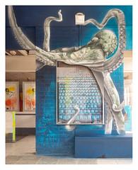 The Deep (leo.roos) Tags: straatkunst streetart muurschildering wallart muralism kijkduin winkelcentrum shoppingmall shoppingcentre sloop demolition graffiti thsa thehaguestreetart crea sonye a7 helios44582 kmz 1958 m39 russianlenses sovietglass darosa leoroos graphitti grafitti graphiti mural blue gordonmeuleman artdrenaline zest patrick streetartcity winkelpromenadekijkduin
