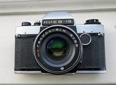 Kiev 19 SLR with Helios 81-N (гелиос-81н) (bigalid) Tags: camera kiev arsenal 19 slr helios 81n гелиос81н