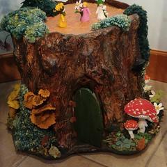 This #felted #stump w/ #toadstool(s) & #fairies!#phoebebird #phoebewahl #giftshop #bellingham (Heath & the B.L.T. boys) Tags: instagram toadstool mushroom stump crafts giftshop moss fairy