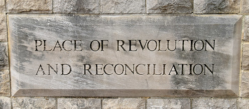 'Place of Revolution and Reconciliation' -- Plaque in Kelly Ingram Park Birmingham (AL) February 2019