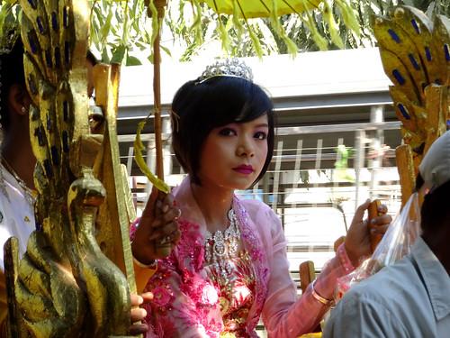 Beautiful lady in Sagaing, Myanmar