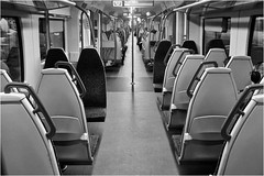 Day 168 Thameslink (Dominic@Caterham) Tags: train carriage thameslink seats people mono