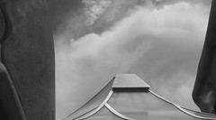 Design and Cloud (Rand Luv'n Life) Tags: odc our daily challenge james hubbell ranch house architecture building walls roof cloud sky monochrome blackandwhite outdoors