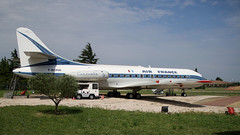 Looking very shipshape (ƒliçkrwåy) Tags: fboha sud caravelle airliner aviation aircraft preserved airfrance avignon