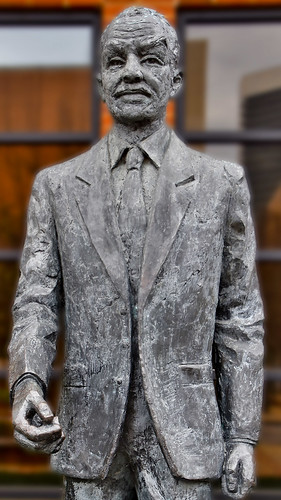 The Rev. Fred Schuttlesworth -- 1992 Statue by John Walter Rhoden Civil Rights Institute Birmingham (AL) February 2019