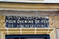 traces du passé (Jeanne Menjoulet) Tags: garedelest paris traces chemindefer architecture dessins plan architecte