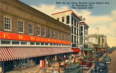 Downtown St Petersburg Vintage Postcards (Phillip Pessar) Tags: downtown st petersburg vintage postcards five dime store retail variety f w woolworth
