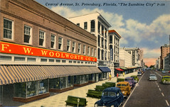 Downtown St Petersburg Vintage Postcards (Phillip Pessar) Tags: downtown st petersburg vintage postcards five dime store retail variety f w woolworth fw rutlands