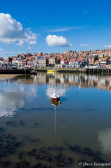 Yacht Reflection (daveseargeant) Tags: whitby harbour sea coast coastal seascape street yacht yorkshire north leica x typ 113